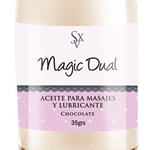 Gel para Masajes y Lubricante Magic Dual Mini